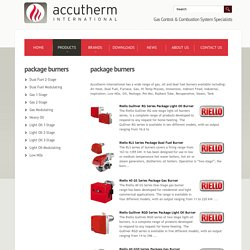 Accutherm International - Gas Package Burners Suppliers in Australia