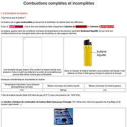 Combustions complètes et incomplètes