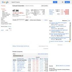 Comcast Corporation: NASDAQ:CMCSA quotes & news - Google Finance