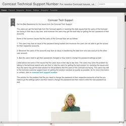 Comcast Technical Support Number: Comcast Tech Support