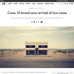 Come 10 brand sono arrivati al loro nome