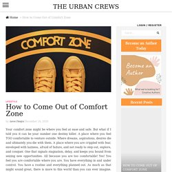 How to Come Out of Comfort Zone - Aaron Dungca