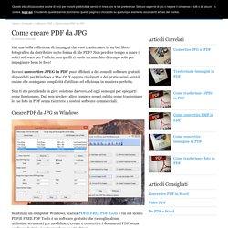 Come creare PDF da JPG