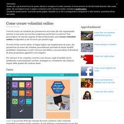 Come creare volantini online
