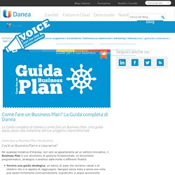 Come fare un business plan: la Guida Danea