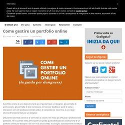 Come gestire un portfolio online