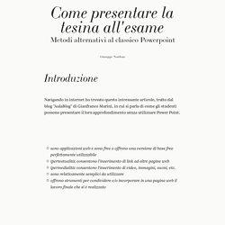 Come presentare la tesina all'esame di Giuseppe Nardone