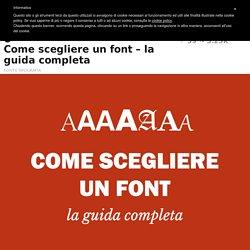 Come scegliere un font - la guida completa - Grafigata!
