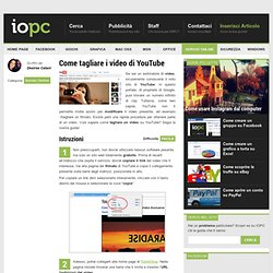 Come tagliare i video di YouTube