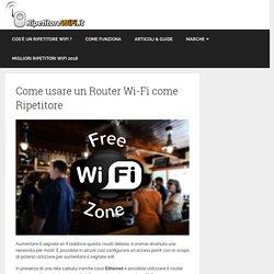 Come usare un Router Wi-Fi come Ripetitore