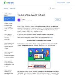 Come usare l'Aula virtuale – WeSchool