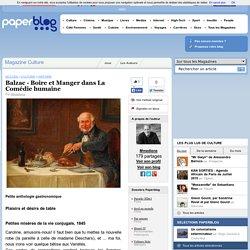 Balzac - Boire et Manger dans La Comédie humaine