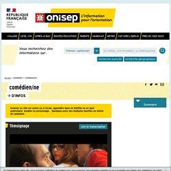 comédien / comédienne - Onisep