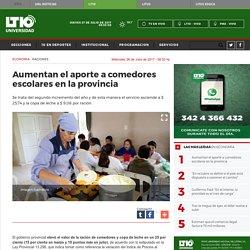 Aumentan el aporte a comedores escolares en la provincia