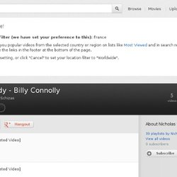 Comedy - Billy Connolly
