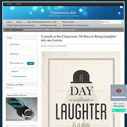 Comedy in classroom-bring laughter into lessons