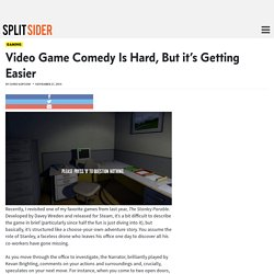 Video Game Comedy Is Hard, But it's Getting Easier - Splitsider