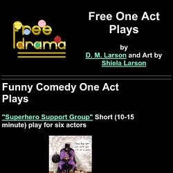 Free Comedy One Act Plays (short scripts)