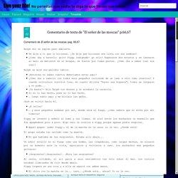 """Live your life!: Comentario de texto de """"El señor de las moscas"""" p.66,67"""