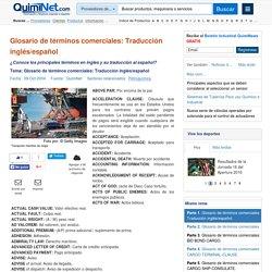 Glosario de términos comerciales: Traducción inglés/español