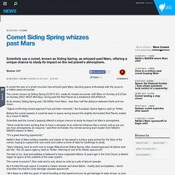 Comet Siding Spring whizzes past Mars