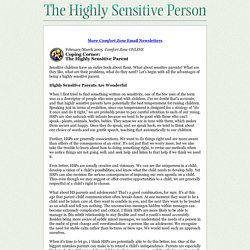 February 2005 - The Highly Sensitive Parent