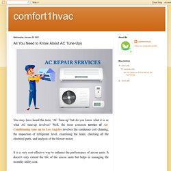 comfort1hvac: All You Need to Know About AC Tune-Ups