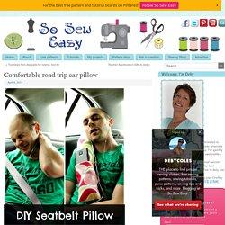 Comfortable road trip car pillow