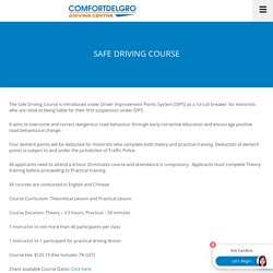 (Positive Punishment) Safe Driving Course for corrective education