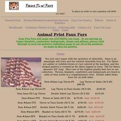 Animal Print Fake Faux Fur Throw Blanket Comforter Bedspread Shams Leopard Cheetah Lion Chinchilla Rabbit Bear Wolf Raccoon Fox Coyote