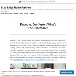 Duvet vs. Comforter: What's The Difference?