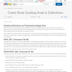 Comic Book Grading Scale & Definitions
