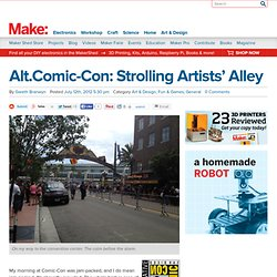 Alt.Comic-Con: Strolling Artists' Alley