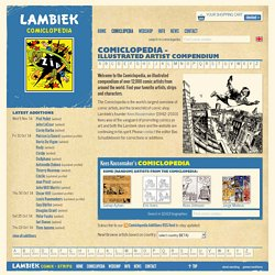 Comiclopedia - Illustrated artist compendium