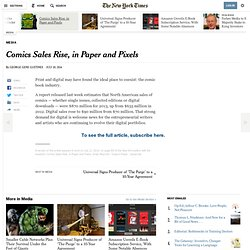 Comics Sales Rise, in Paper and Pixels