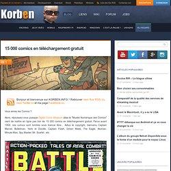 15 000 comics en téléchargement gratuit