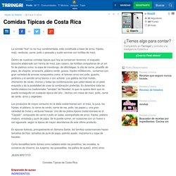Comidas Típicas de Costa Rica