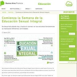 Comienza la Semana de la Educación Sexual Integral