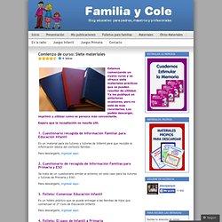 Comienzo de curso: Siete materiales « Familia y Cole