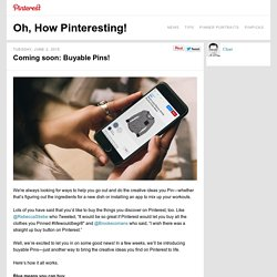 Coming soon: Buyable Pins!
