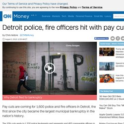 Pay cuts coming to Detroit police, fire officers - Aug. 2, 2013