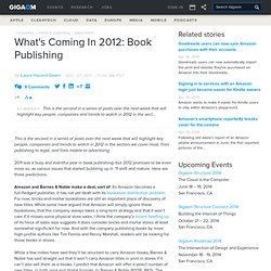 What's Coming In 2012: Book Publishing