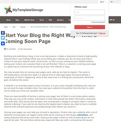 Coming Soon Page: Launch New Website or Blog