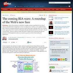 » The coming RIA wars: A roundup of the Web's new face | Enterpr