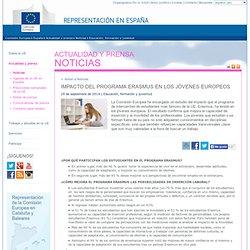 Comisión Europea - Representación en España - Impacto del programa Erasmus en los jóvenes europeos