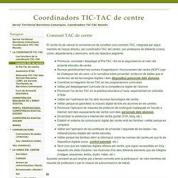 Comissió TAC de centre - Coordinadors TIC-TAC de centre