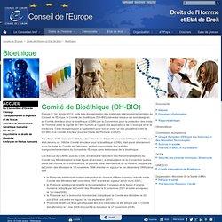 Comité Directeur pour la Bioéthique (CDBI)
