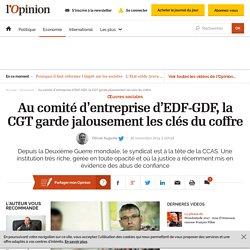 Au comité d'entreprise d'EDF-GDF, la CGT garde jalousement les clés du coffre