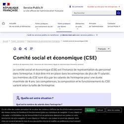 Comité social et économique (CSE)