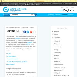 Comma (,) - Oxford Dictionaries